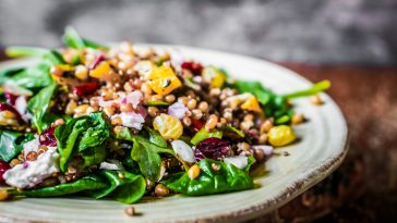 Spinach and Coucous Harvest Salad