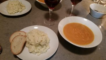 Carrot soup n Cauli mash