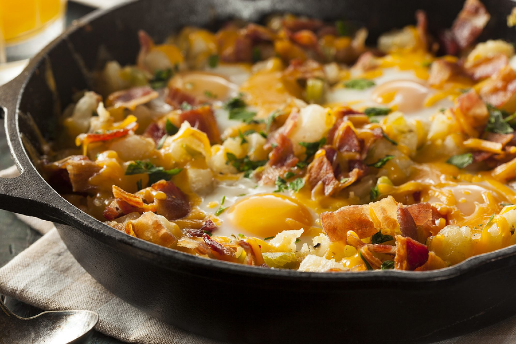bigstock Homemade Hearty Breakfast Skil 65122939