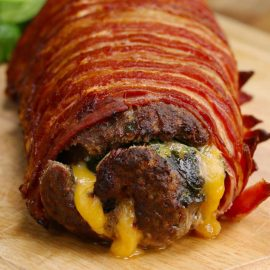 Bacon Wrapped Burger Roll