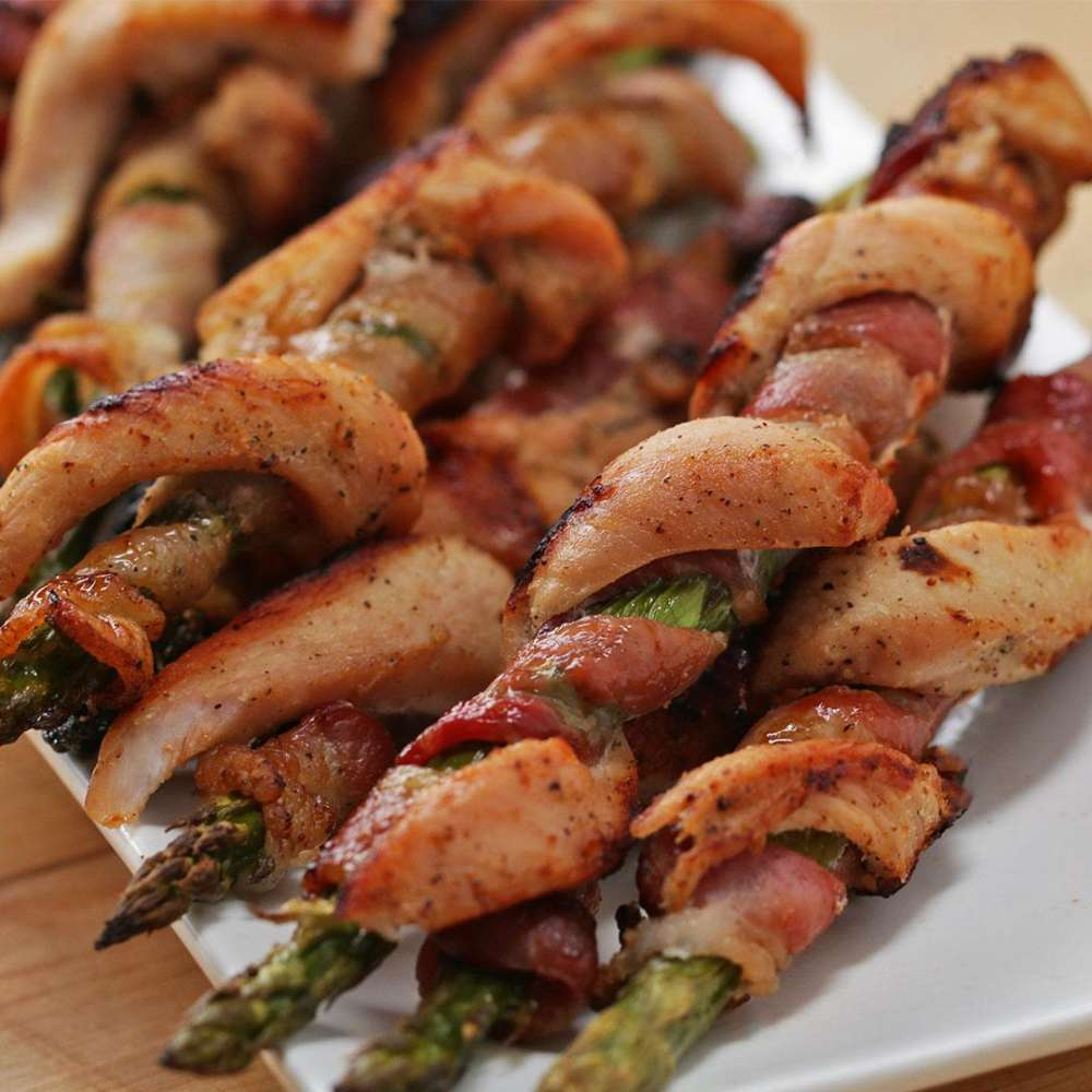 Chicken Bacon Asparagus Twists