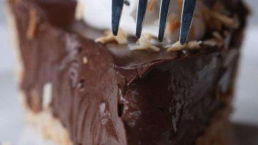 Dairy free Chocolate Coconut Cream Pie