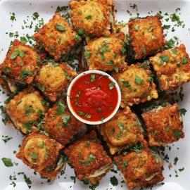 Fried Ravioli Sliders