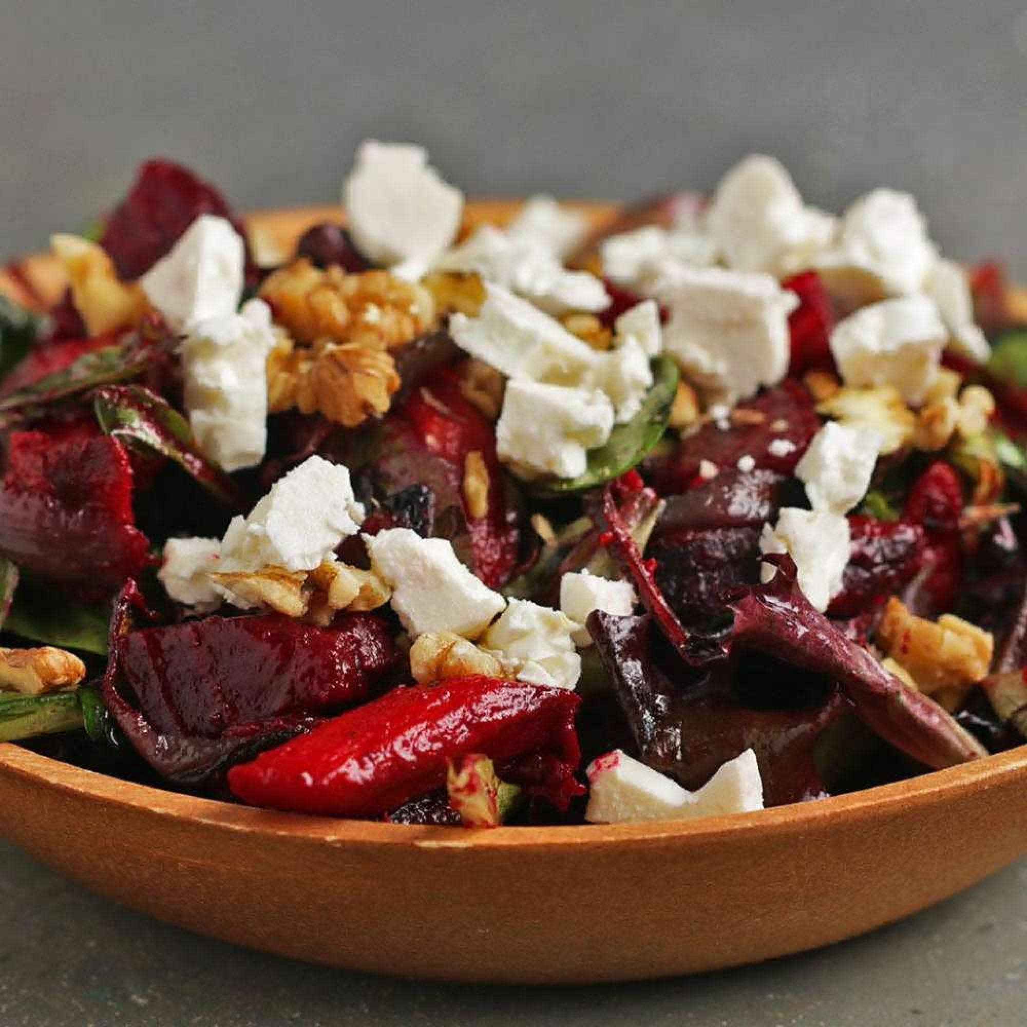 Hearty Roasted Veggie Salad