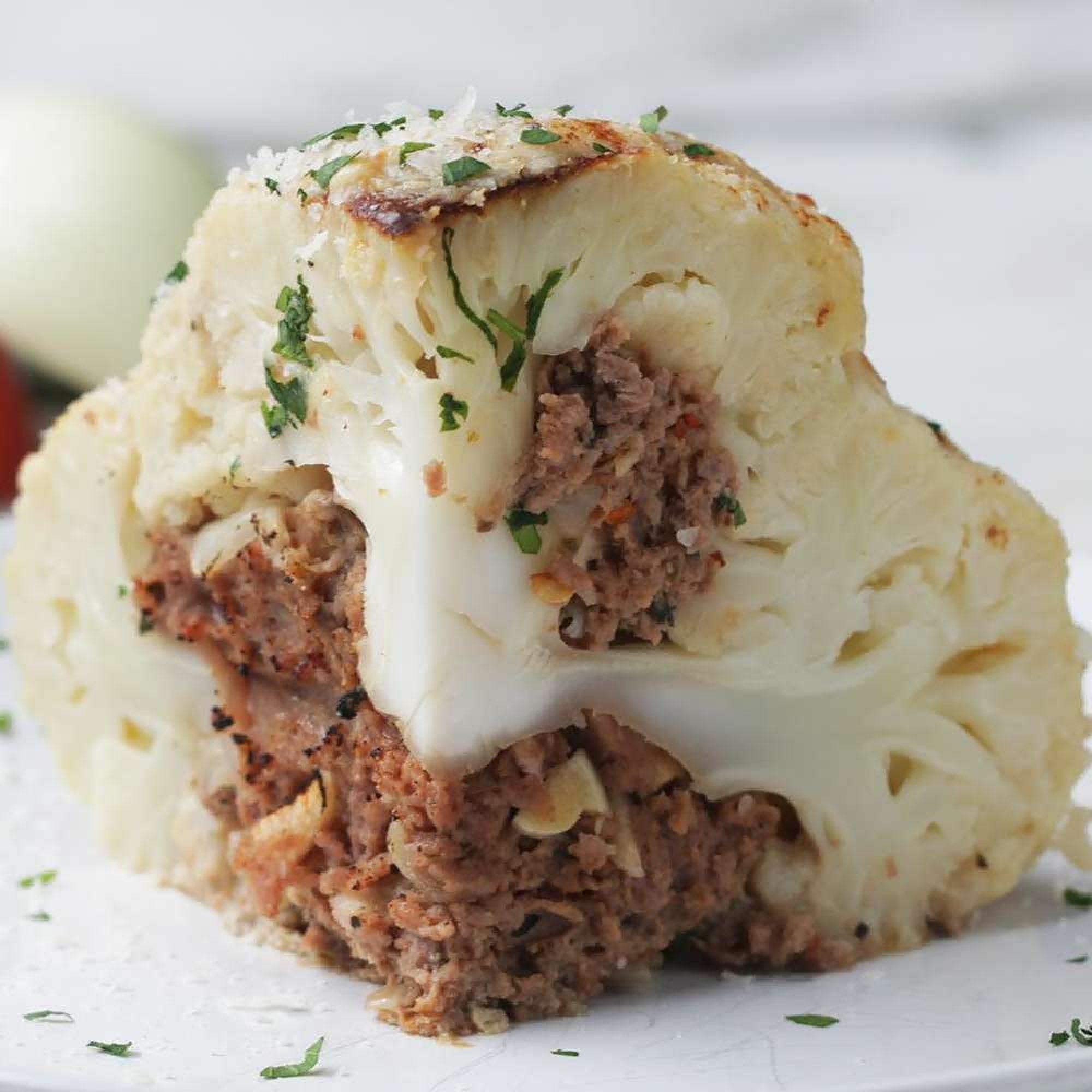 Low Carb Stuffed Cauliflower