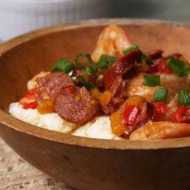 Uncle Pooh's Shrimp Sausage And Grits