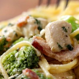 Chicken Bacon Broccoli Alfredo