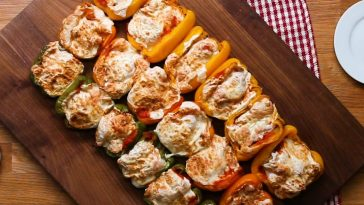 Chicken Parm Stuffed Bell Peppers